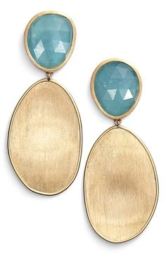 Marco Bicego 'Lunaria' Drop Earrings available at #Nordstrom
