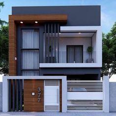 2 Storey House Design, Duplex House Design, House Front Design, Small House Design, Modern Exterior House Designs, Best Modern House Design, Exterior Design, Minimalist House Design, Modern House Facades