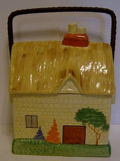 Carlton Ware Cottage Ware Biscuit Barrel - 1930s | eBay