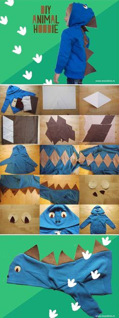 stap voor stap een animal hoodie maken  #animal #hoodie