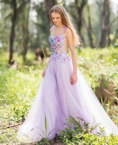 22 Gorgeous Floral Wedding Dresses Blooming with New Details! Floral Wedding Gown, Lilac Wedding, Stunning Wedding Dresses, Beautiful Dresses, Disney Inspired Wedding Dresses, Bridal Gowns, Wedding Gowns, Elegant Ball Gowns, Fantasy Gowns