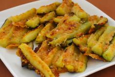 Parmesan encrusted zucchini--I love more vegetable recipes.  I don't think it will help my kids to eat it, but I will love it.