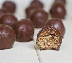 Gluten Free Cookie Dough Truffles. Seriously thinking of just baking the day away. Anyone care to join me?!