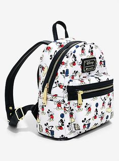 54714626444 Loungefly Disney Mickey Mouse Allover Print Mini BackpackLoungefly Disney  Mickey Mouse Allover Print Mini Backpack