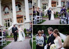 bride walking down the aisle from the mansion http://corlisandmegangray.com #chicagoweddingphotographers #weddinginspiration #weddingideas #wedding