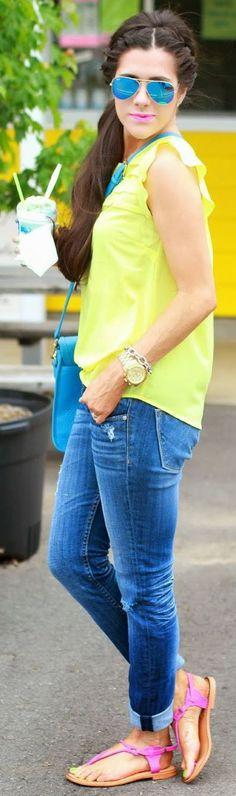 Gigi New York Blue Leather Satchel Bag