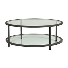 The Camber Collection of occasional tables offers a simple, modern design to any living room or entryway. These tables combine a stylish slate grey metal frame with durable 8 mm clear tempered glass. The simple lines and neutral colors easily complement any room. The multiple tiers provide... more details available at https://furniture.bestselleroutlets.com/living-room-furniture/tables/coffee-tables/product-review-for-studio-designs-home-71003-0-camber-round-coffee-table-in-p