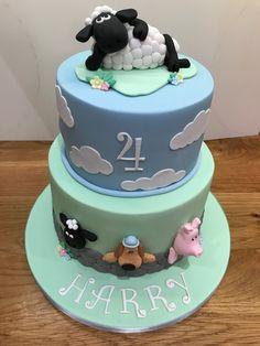 Shaun the Sheep Cake Castle Birthday Cakes, Baby Birthday Cakes, 2nd Birthday Parties, Shaun The Sheep Cake, Eid Cake, Timmy Time, Lamb Cake, Bithday Cake, Animal Cakes