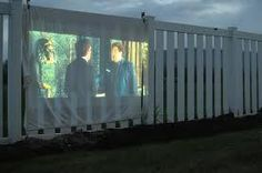 Watch Movies On The Fence Outside———–Outside Projector———-Movie Projector