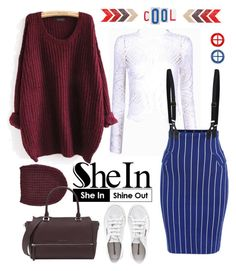 """""""Cool Girl"""" by gina-m ❤ liked on Polyvore featuring Superga, Maje, contest, fashionset and shein"""