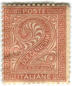Italian stamp.
