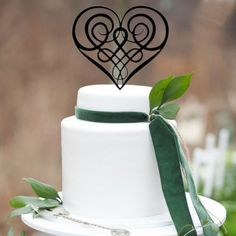 Ideal for all romantic celebration cakes from engagement, wedding to anniversary cakes The wedding cake topper design is exclusive to Your Perfect Finish Heirloom cake topper Made of food-safe acrylic Designed to fit on a cake tier Free worldwide shipping Heart Wedding Cakes, Country Wedding Cakes, Elegant Wedding Cakes, Cool Wedding Cakes, Elegant Cakes, Wedding Cupcakes, Wedding Cake Toppers, Celtic Wedding, Irish Wedding