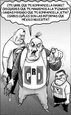 La trampa de las reformas que el país necesita, traje a medida de los vándalos del #PRIAN   La Jornada: Cartones