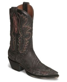 Dan Post Tobacco Betty Wingtip Cowgirl Boot