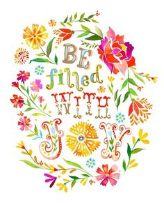 A print by Katie Daisy. I want to  embroider some flowers with similar colors.