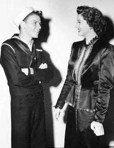 Frank Sinatra and Myrna Loy