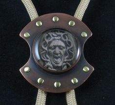 Bolo tie, Medusa shield 001 by crquack on Etsy