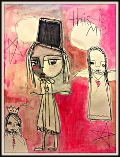 journal page Journal Pages, Face Art, Little Girls, Cool Hairstyles, Faces, Drawings, Flowers, Animals, Inspiration