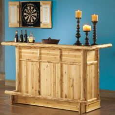 I'm thinking twice this size & a nice big mirror behind it on the wall would make an awesome bar.