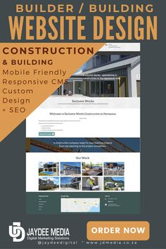 Building and Construction Business Web Design + SEO Price to develop Construction Website, Construction Business, Business Web Design, Basic Website, Responsive Site, Mobile Friendly Website, Building A Website, Business Website, Packaging Design