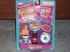 NEW KITCHEN LITTLES PICNIC PARTY SET TYCO 1995 BNIB RARE | eBay