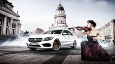 Mercedes Benz C250 by Guillermo Abalos Ventoso, rendered in KeyShot.