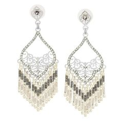Beaded Tassel Drop Earrings by LK Designs