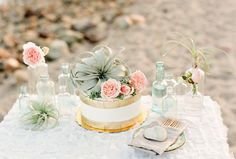 Bohemian Beach Wedding Cake