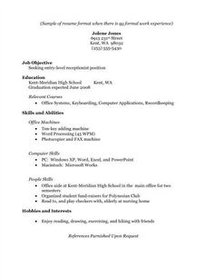 high school student resume samples with no work experience  Google Search  Places to Visit