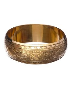 Wise Creations Brass Embossed Bangle