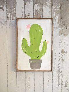 Vintage cactus rustic wood sign by katieruebel on Etsy https://www.etsy.com/listing/262690483/vintage-cactus-rustic-wood-sign