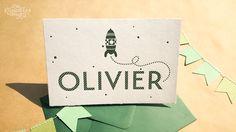 © dekaartjeswinkel.nl Letterpress geboortekaartje – Olivier