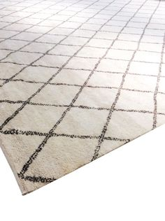 Moroccan Hand-Knotted Ivory/Brown Area Rug