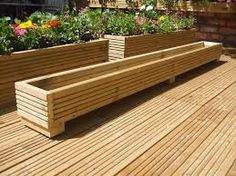 Image result for raised flower beds made from decking