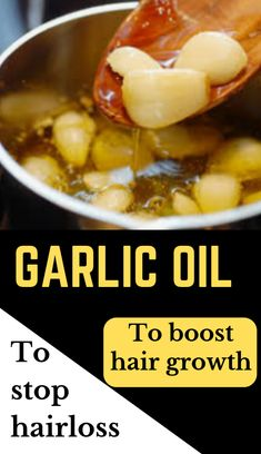 hair oil - 2 in 1 oil to fight against hair loss and boost hair growth Beauty DIY: Garlic Oil For Hair Growth amp; Fighting Hair LossBeauty DIY: Garlic Oil For Hair Growth amp; Natural Hair Loss Treatment, Natural Hair Growth, Natural Hair Styles, Long Hair Styles, Hair Treatments, Oil For Hair Loss, Stop Hair Loss, Afro Hair Care, Garlic Benefits