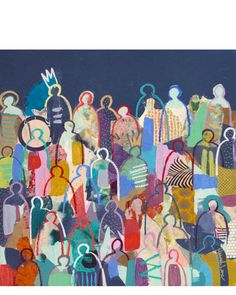 """""""Crowd Series: Hallowed and Crowned"""" by Hannah Lane via Serena & Lily #artcollection"""