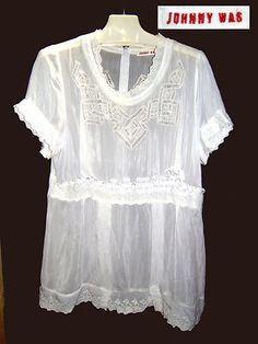 Johnny Was White Victorian Blouse 73-813