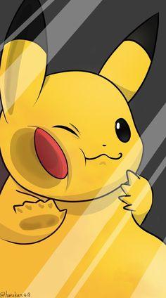 Pikachu detras de un cristal