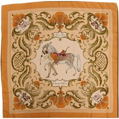 Hermes Silk Scarf Cheval Turc from Green Country Estates Exclusively on Ruby Lane