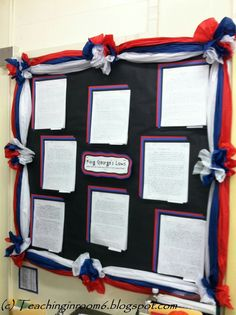 Fourth of July, labor day, or memorial day bulletin board idea