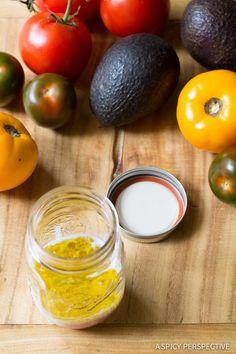 Making Grilled Steak Salad with A1 Vinaigrette on ASpicyPerspective.com