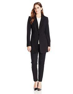 Calvin Klein Women's 1 Button Long Suit Jacket