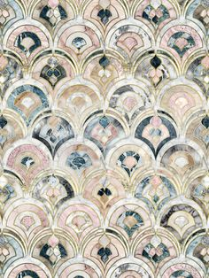 """edhellin: """" """"Art Deco Marble Tiles in Soft Pastels by micklyn """" """""""