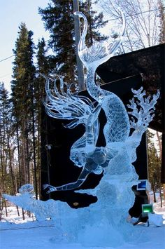 Photo of Ice Mermaid reaching for pearl in clamshell. Photo taken at the World Ice Art Championships in Fairbanks, Alaska. Photo by Santa's Letters and Gifts/North Pole, Alaska. Mermaid Under The Sea, Under The Sea Theme, Siren Mermaid, Mermaid Art, Real Mermaids, Mermaids And Mermen, Snow And Ice, Fire And Ice, Mermaid Sculpture