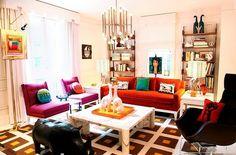 colourful room by jonathan adler