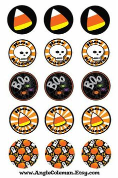 Halloween bottle cap images