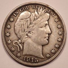 1915-D Barber Half Dollar 50c Choice XF Coin with Full Liberty
