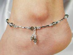 Swarvoski crystal ankle braclet | Ankle Bracelet Anklet Swarovski Crystal by ABeadApartJewelry, $19.00