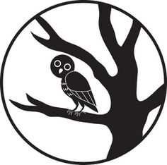 Owls Clipart Black And White Owl clipart image black