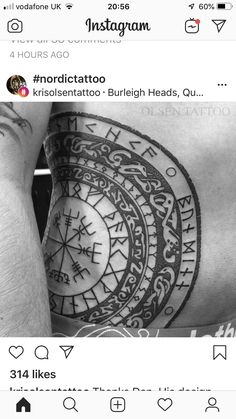 - Best Picture For diy For Your Taste You are looking for something, and it is going to tell you ex - Bild Tattoos, Leg Tattoos, Black Tattoos, Body Art Tattoos, Tribal Tattoos, Geometric Tattoos, Tattoo Ink, Viking Rune Tattoo, Norse Tattoo